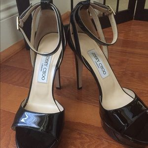 Jimmy choo patent leather heels size 38